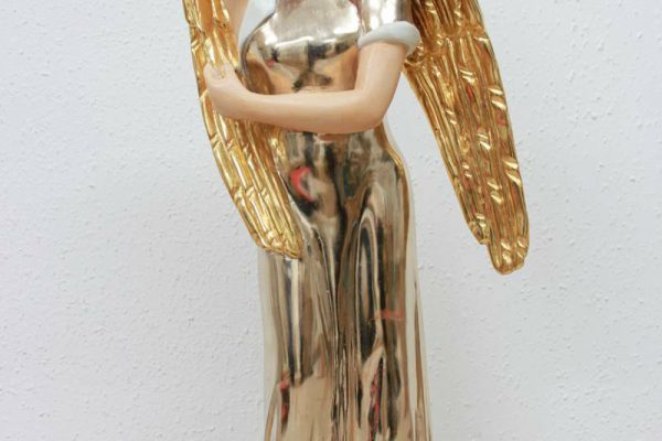 gilded Angel in gold and moongold - Goldcreartiv
