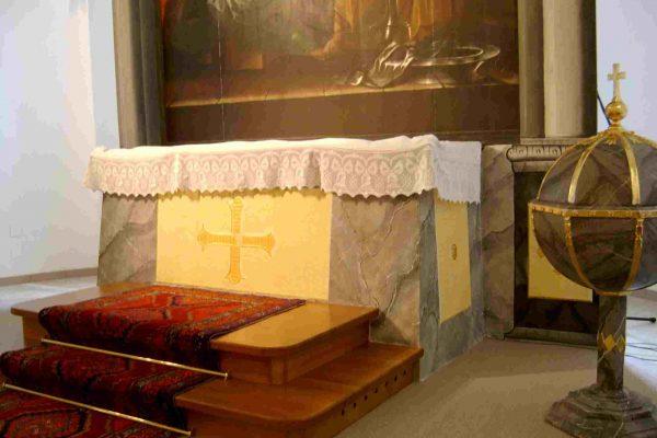 Altargestaltung Marmorimitation