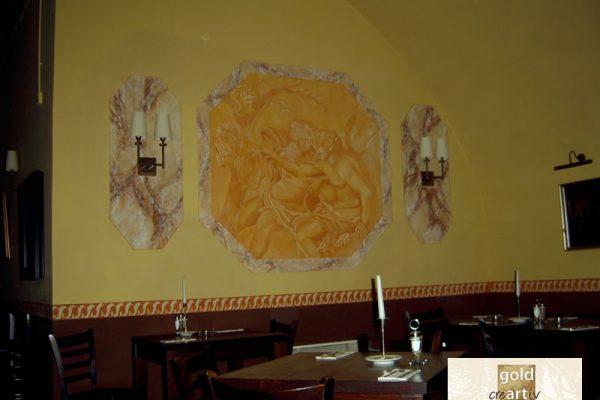 Illusionsmalerei in Restaurant