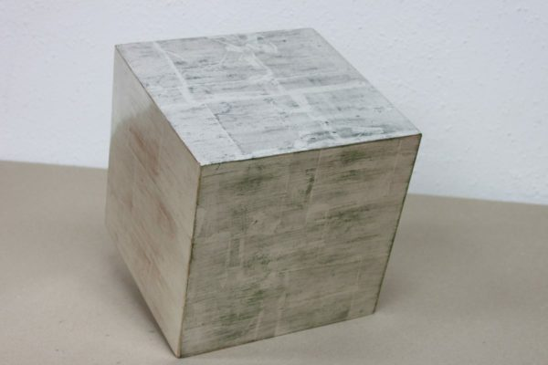 Decoration - cube in silver - Goldcreartiv